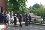 Members of Branchburg Rescue's EMS & Rescue Services Unit operating at a car that jumped the curb the morning of Saturday 6/28/08, along Rt 202 in the Township.  No injuries resulted, and only minor vehicle damage.