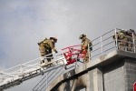 Training with Ladder 3 at the burn building