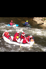 AFD Swift Water Rescue Team in Raft 3 on the Russell Fork River at the Breaks Interstate Park