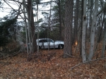 Single vehicle off the road due to icy roadway - January 2014