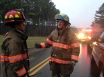 Lt Ryan Crews and Asst Chief L.T. Osborne discuss the conditions - January 2014