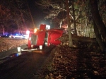 Mutual aid with Callands - Overturned log truck - December 2014
