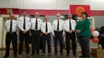 Left to Right: Safety Officer - Skip Strobel, Sergeant -JT Smith, Lieutenant - Ron Brown, Captain - Ryan Crews, Assistant Chief - LT Osborne, Chief - Tim Smith, EMS Captain - LaVerne Worley