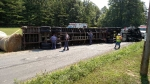 Tractor Trailer Overturned - August 2015