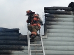 Mutual aid with Gretna and Hurt - Lt Ryan Crews looks over the damage - February 2014