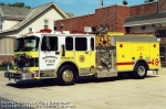 Engine 48 is a 1999 Spartan/Interstate Pumper with an '86 Pierce 2000 gpm. Waterous pump and a 1000 gal. booster tank 40 gal. Class A foam tank 40 gal. Class B foam tank. Mounted on top of the vehicle is a 2000 gpm stang deck gun. The seven cross lays have five 1 3/4 hose lines and two 3 lines. The main hose bed carries 1800 feet of five inch hose.  Removed from active service in 2011.