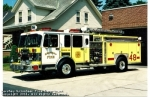 Engine 48-2 is a 1993 Spartan/Darley. It has a 2000 gpm Darley pump and a 750 gal. booster tank. There are two cross lays and two hose reels of 1 3/4 hose. There is a 10 KW Harrison generator. A 1000 gpm. stang deluge gun is mounted on top of the apparatus. The main hose bed carries 5 and 3 hose.  Removed from active service in 2006 and used as a reserve engine until 2011.