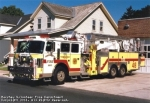Truck 48 was a 1994 Duplex/Saulsbury/Baker, it was completely refurbised in 2007 by Pierce. It has a 95' Aerialscope telescoping platform. It has a Harrison 15 KW generator with floodlights mounted on the body. A total of 158 feet of ground ladders is carried on this unit. There is a full line of truck equipment including a Hurst tool.