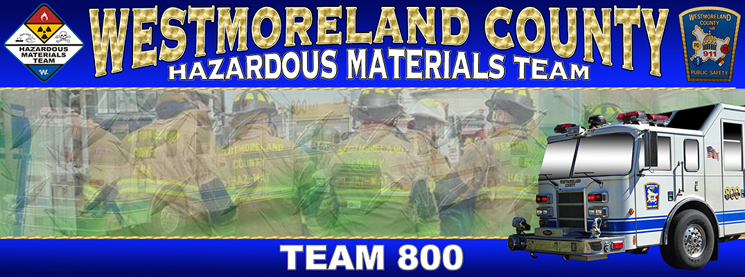 Westmoreland County Hazardous Materials Response Team 800