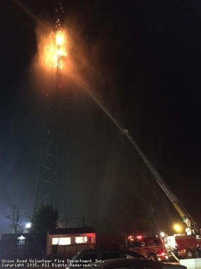 Cell Tower Fire During The Lantern Festival At Carolina Speedway
