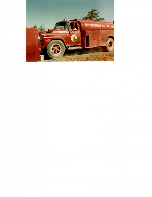 435 operating at the 1980 Shawanga Ridge Forest Fire. 435 was purchased from the Agway Oil Company by found member and Past Chief Richard Funke. After making it ready to operate as a fire apparatus Tanker, Chief Funke donated it to the Company in the late 60's. It was retired in the early 80's and sold to the Oakland Valley Race Park.