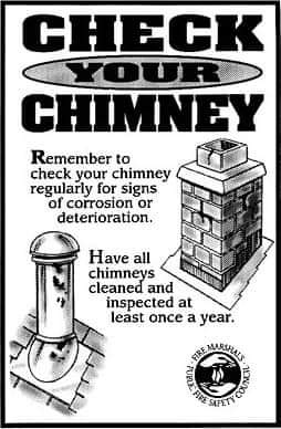 Reminder to clean your chimney