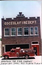 1952 Chevy in front of old Osceola fire station