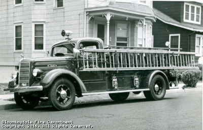 Hook & Ladders 1938 Mack E Model. This truck was serial number 1001, or number one for Mack