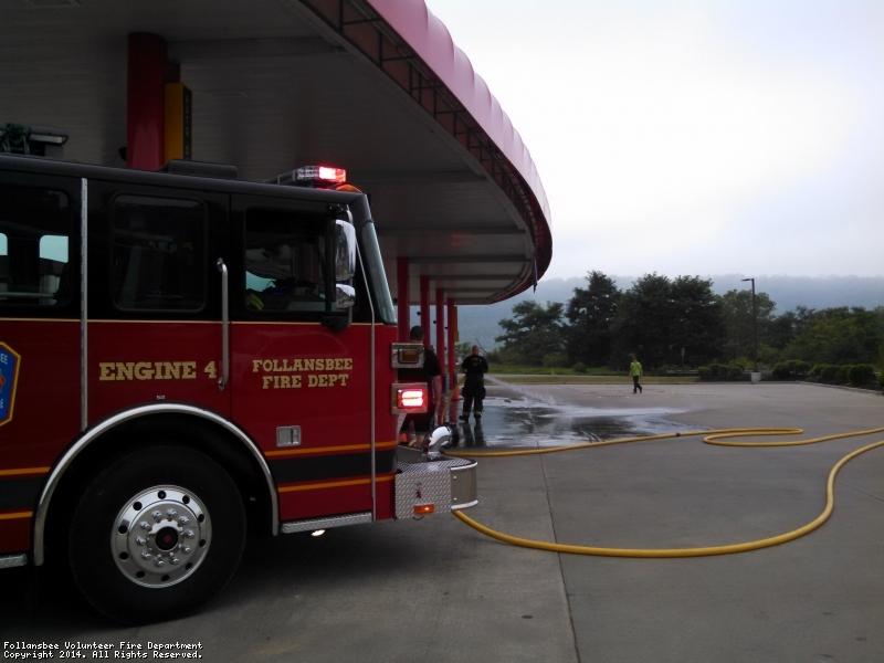 Small Gasoline spill at Scheetz