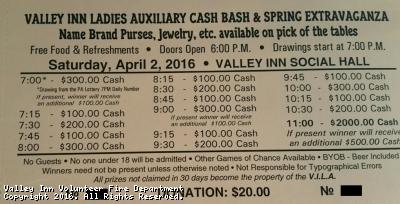Ladies Auxiliary Cash Bash