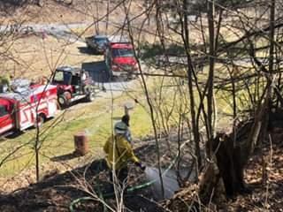 Mahaffey Hollow Rd Brush Fire