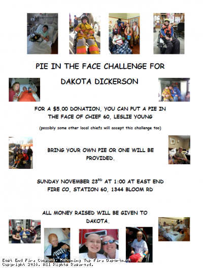 PIE IN THE FACE CHALLENGE FOR DAKOTA