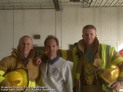 Firefighter Michael Stephens, Chief Cory White, Firefighter Derrick Miller