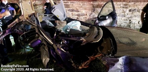 Car Split In Half During Fatal Crash