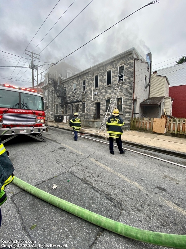 Fire on North 9th Street