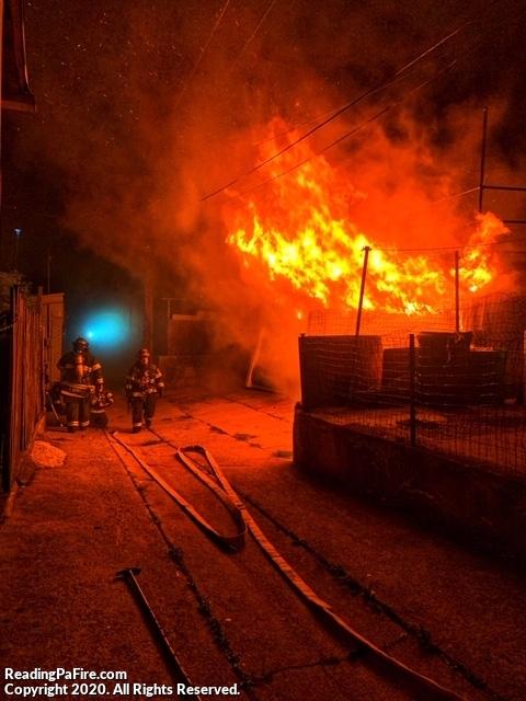 Garages Burn off North 13th Street