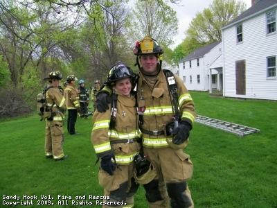 EMS Captain Karin Halstead & Engineer Steve White at FF1 Class, 05/03/09