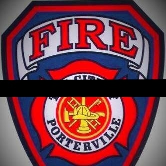 Porterville (CA) FD with mourning band