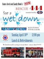 Flier announcing April 2017 wetdown for new Rescue 444