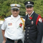 Don Lewis and his son Al, taken as they arrived for the 75th anniversary party, June 22 2013