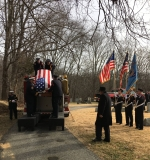 George's coffin coming off Engine 442 at cemetery; January 14, 2017