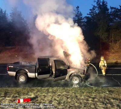 Pick-Up Destroyed In Fire