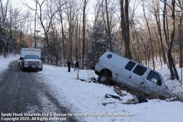 Van Off Road In Snowy Conditions