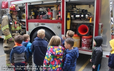 Fire Prevention Visit at Wesley Learning Center