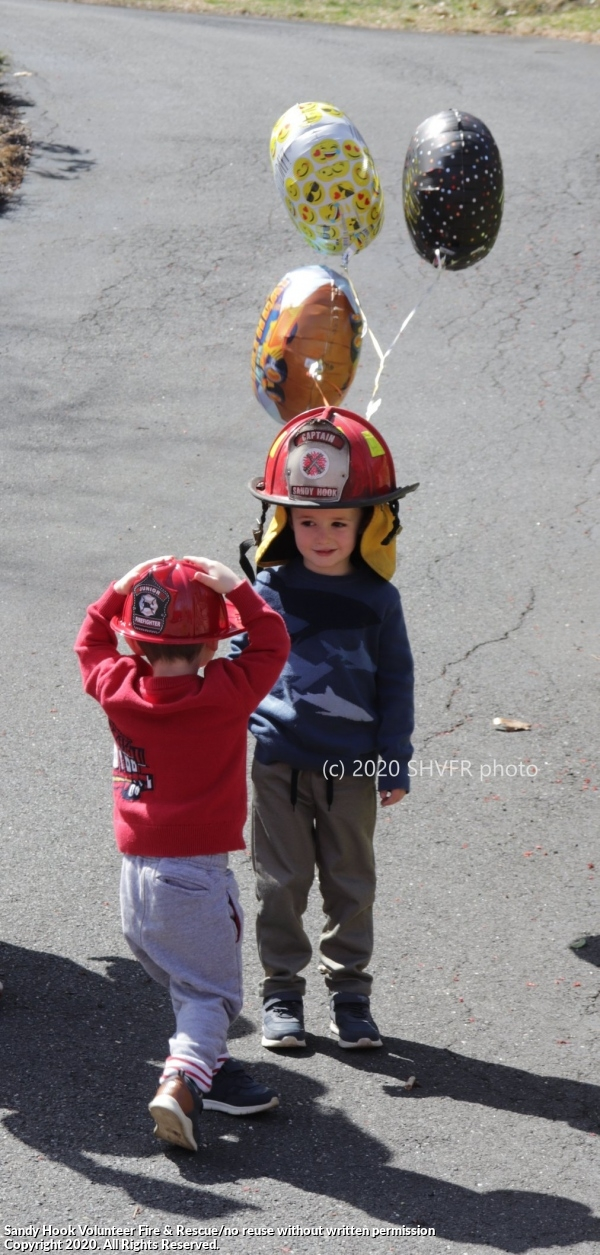 Birthday Visits For Young Members Of Our Fire District