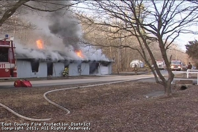 Structure Fire at 933 W. Cape Rock Dr