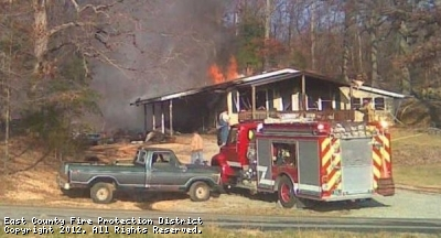 Structure fire on State Hwy V in Cape Girardeau County