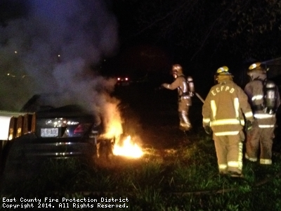 Vehicle Fire on April 21, 2014