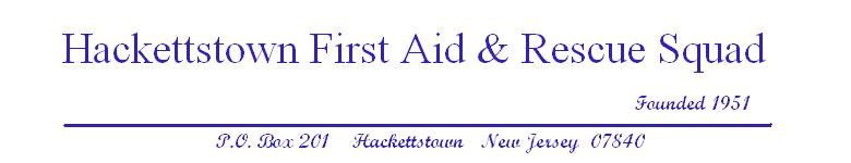 Hackettstown First Aid and Rescue Squad