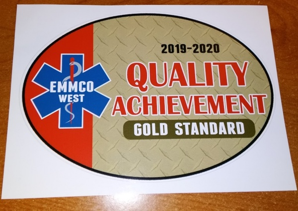 PERRY HI-WAY RECIEVES GOLD LEVEL AWARD FOR AMBULANCE SERVICE