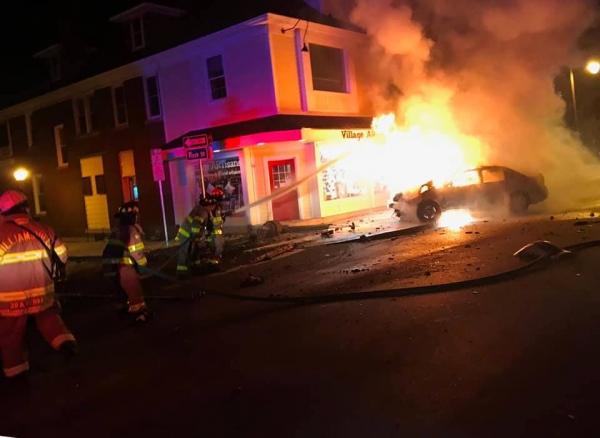 Car Fire on Main Street