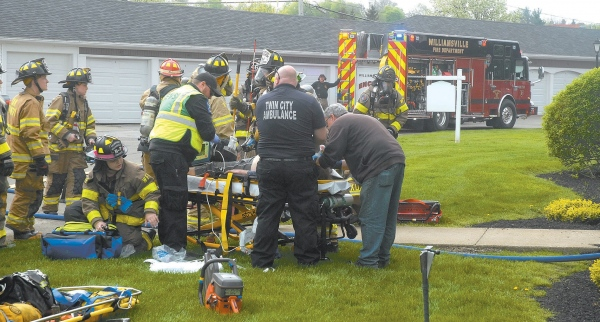 Apartment resident rescued by Williamsville firefighters
