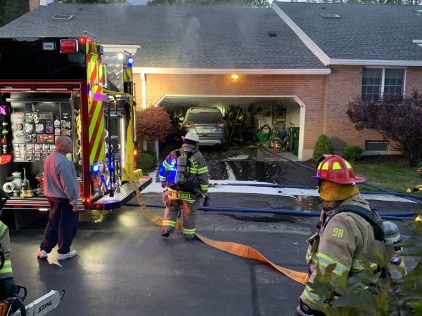 Car Fire in attached garage