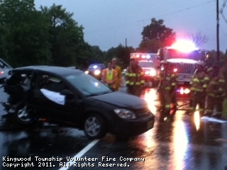 2 Car Motor Vehicle Crash, Route 12 near Barbertown Pt. Breeze