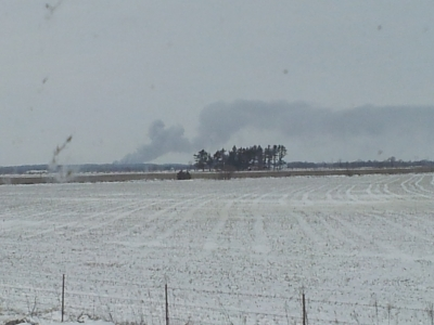 This was the view from Tender 116 approximately 20 miles away from the MIPA Hog Farms Fire.