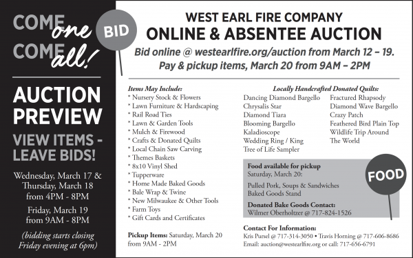 WEFC Online and Absentee Auction