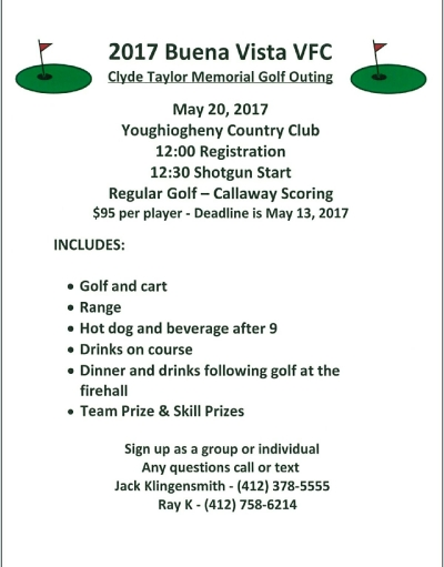 2017 Clyde Taylor Memorial Golf Outing