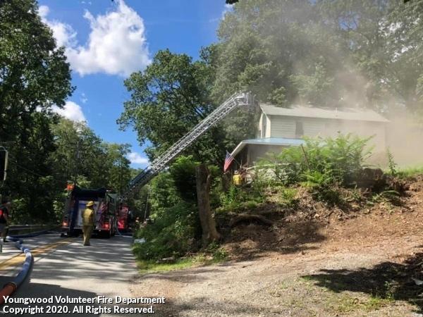 House Fire Depot street Sept 2020 . Working Basement Fire
