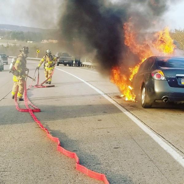 Vehicle Fire I81NB MM149