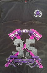 Charcoal Gray - GVFD All Cancers Awareness T-Shirts